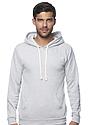Unisex Triblend Fleece Pullover Hoodie TRI ASH Front