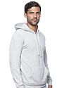Unisex Triblend Fleece Pullover Hoodie TRI ASH Back