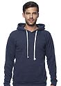 Unisex Triblend Fleece Pullover Hoodie TRI DENIM NAVY Front