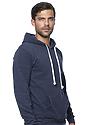 Unisex Triblend Fleece Pullover Hoodie TRI DENIM NAVY Back