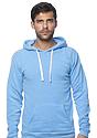 Unisex Triblend Fleece Pullover Hoodie TRI POOL Front