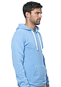 Unisex Triblend Fleece Pullover Hoodie TRI POOL Back