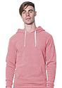 Unisex Triblend Fleece Pullover Hoodie TRI DESERT ROSE Front