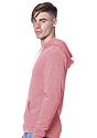 Unisex Triblend Fleece Pullover Hoodie TRI DESERT ROSE Back