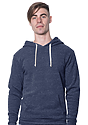 Unisex Triblend Fleece Pullover Hoodie TRI TRUE NAVY Front
