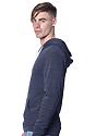 Unisex Triblend Fleece Pullover Hoodie TRI TRUE NAVY Back