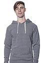 Unisex Triblend Fleece Pullover Hoodie TRI VINTAGE GREY Front