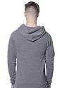Unisex Triblend Fleece Pullover Hoodie TRI VINTAGE GREY Back