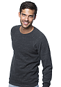Unisex Triblend Fleece Raglan Crew Sweatshirt TRI ONYX Side