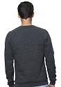 Unisex Triblend Fleece Raglan Crew Sweatshirt TRI ONYX Back