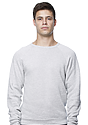 Unisex Triblend Fleece Raglan Crew Sweatshirt TRI ASH Front