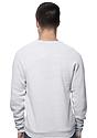 Unisex Triblend Fleece Raglan Crew Sweatshirt TRI ASH Back