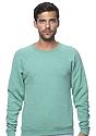Unisex Triblend Fleece Raglan Crew Sweatshirt TRI KELLY Front