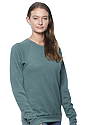 Unisex Triblend Fleece Raglan Crew Sweatshirt TRI PINE Side2