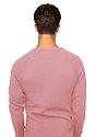 Unisex Triblend Fleece Raglan Crew Sweatshirt TRI DESERT ROSE Back