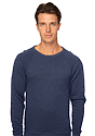Unisex Triblend Fleece Raglan Crew Sweatshirt TRI TRUE NAVY Front