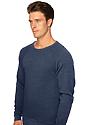Unisex Triblend Fleece Raglan Crew Sweatshirt TRI TRUE NAVY Back