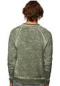 Unisex Burnout Triblend Raglan Crew Sweatshirt  Back