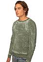 Unisex Burnout Triblend Raglan Crew Sweatshirt  Side