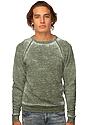 Unisex Burnout Triblend Raglan Crew Sweatshirt  Front