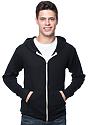 Unisex Thermal Full Zip Hoodie BLACK Front