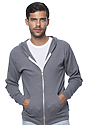 Unisex Thermal Full Zip Hoodie HEATHER CHARCOAL Front