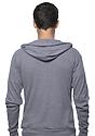 Unisex Thermal Full Zip Hoodie HEATHER CHARCOAL Back