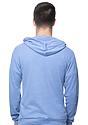 Unisex Thermal Full Zip Hoodie HEATHER ROYAL Back