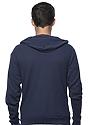 Unisex Thermal Full Zip Hoodie NAVY Back