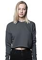Women's Fashion Fleece Crop ASPHALT Front