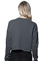 Women's Fashion Fleece Crop ASPHALT Back2