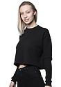 Women's Fashion Fleece Crop BLACK Back
