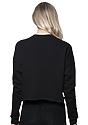 Women's Fashion Fleece Crop BLACK Back2