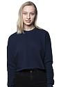 Women's Fashion Fleece Crop NAVY Front