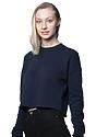 Women's Fashion Fleece Crop NAVY Back