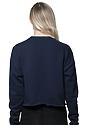 Women's Fashion Fleece Crop NAVY Back2