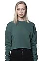 Women's Fashion Fleece Crop PINE Front