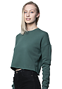 Women's Fashion Fleece Crop PINE Back