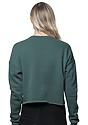 Women's Fashion Fleece Crop PINE Back2