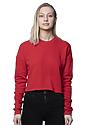 Women's Fashion Fleece Crop RED Front