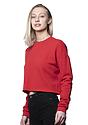 Women's Fashion Fleece Crop RED Back