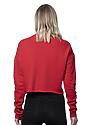 Women's Fashion Fleece Crop RED Back2