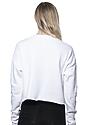 Women's Fashion Fleece Crop WHITE Back2