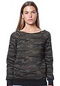 Women's Camo Fleece Raglan Sweatshirt CAMO Front
