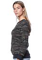 Women's Camo Fleece Raglan Sweatshirt CAMO Side