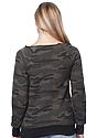 Women's Camo Fleece Raglan Sweatshirt CAMO Back