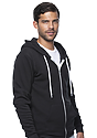 Unisex Fashion Fleece Zip Hoodie  Side