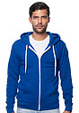 Unisex Fashion Fleece Zip Hoodie ROYAL Front