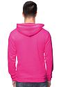 Unisex Fashion Fleece Neon Pullover Hoodie NEON PINK Back