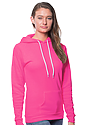 Unisex Fashion Fleece Neon Pullover Hoodie NEON PINK Back2